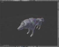 untextured wolf 3d model