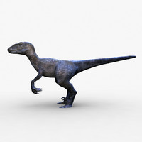 velociraptor raptor 3d ma