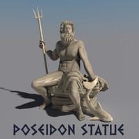 statue poseidon max