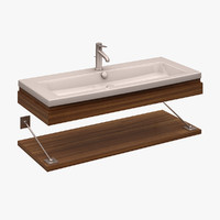 3d model washbasin duravit