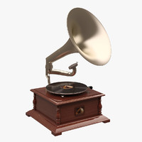 3d model gramaphone voice