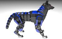 3d robot wolf model