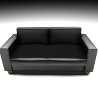 leather couch 3ds