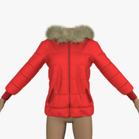 jacket red 3d 3ds