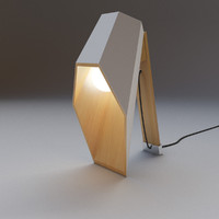 wood desk lamp 3d model