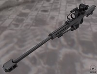 modern heavy sniper rifle obj