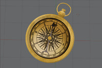 antique maritime compass 3d obj