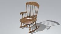 c4d rocking chair