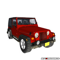 3ds max red jeep