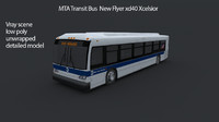 MTA Transit Bus new flyer xd40 Xcelsior