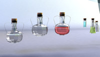 glass bottles liquids x