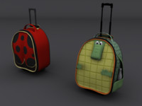 3d rolling bags