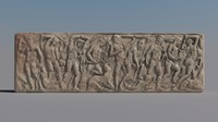 3d model greek bas-relief