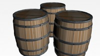 3d barrel keg model