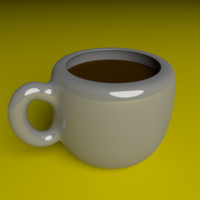 free obj mode coffee mug