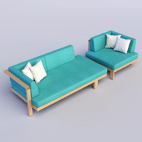 pure sofa 3d model