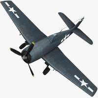 3d grumman f6f hellcat fighter aircraft model