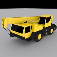 mobile crane 1030 3d obj
