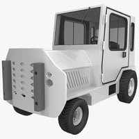 3d model of baggage truck 2