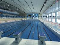 3dsmax olympic swimming pool