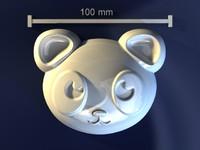 3d panda mould hand