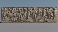 3ds max greek bas-relief