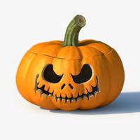 3d model jack-o-lantern pumpkin