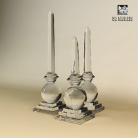 3d model obelisk tribout glass