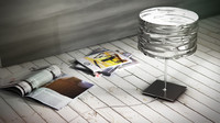 3d artemide aqua table 3 model