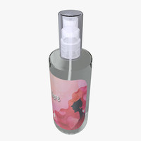 3d model perfume glass bottle