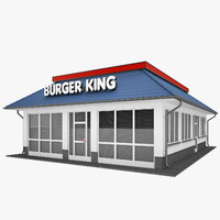 burger king restaurant 3d model