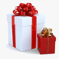 Gift Boxes (White And Red)