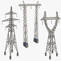3d model set towers
