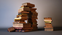 3d model realistic old book