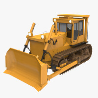 3ds max bulldozer industrial
