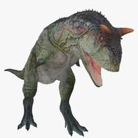 obj carnotaurus dinosaur animations