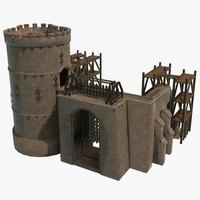 castle frontgate 3d fbx