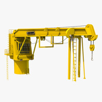 3d model crane construction industrial