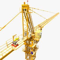 3d crane construction architecture model