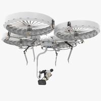 canon camera drone 3d model