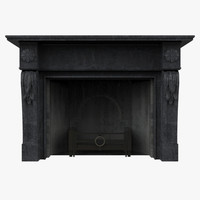 3d model fireplace ready