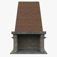 fireplace ready 3d model