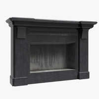 3d model of fireplace ready