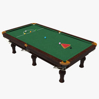 snooker table 3d ma
