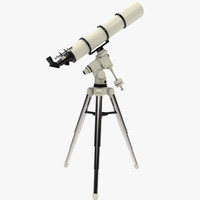 3d model telescope scope