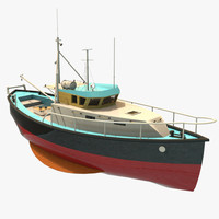 3d model of fishing trawler