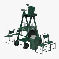 3d umpire chair model