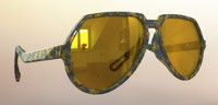 3d model vintage sunglasses