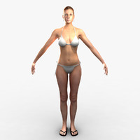 3ds max woman rigged body