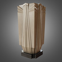 3d art deco vase ready